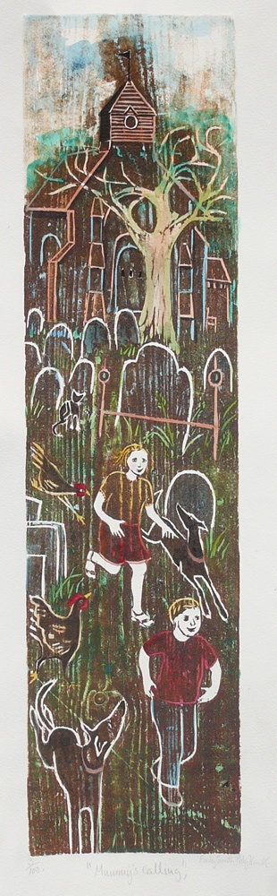 Church Yard - 5.5 x 21.5 inches. £95.00 (unframed) or £185.00 (framed).
