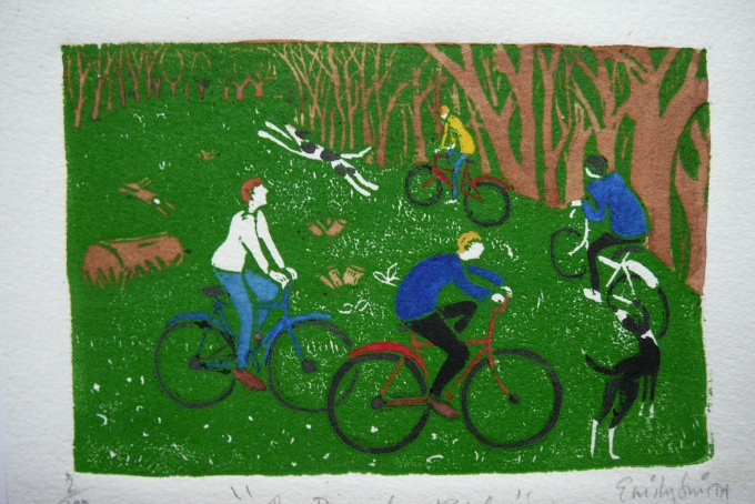 """The cycle ride"" - A5 £10.00"